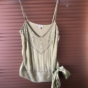 Green Cacique Tank With Jewels